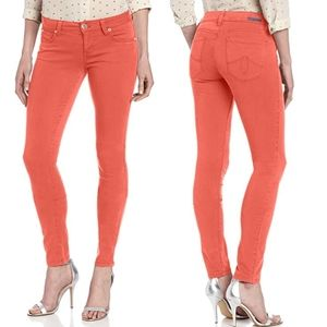 ANTHRO Level 99 Liza Skinny jeans coral sz 25
